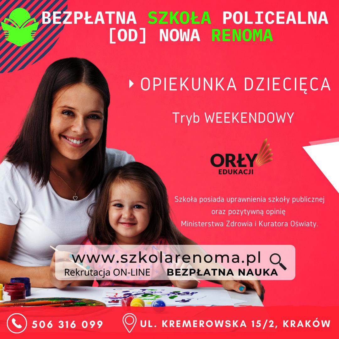 Opiekunka dziecięca Kraków
